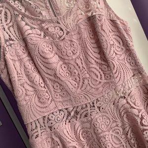 American Rag Blush Lace Skater Dress